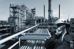 Pétrole, essence, gaz et ingénieur Photographie stock