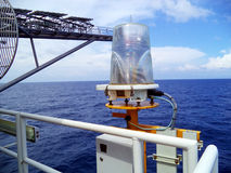 Pétrole et gaz en mer d'industrie Image libre de droits