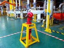 Pétrole et gaz en mer d'industrie Images libres de droits