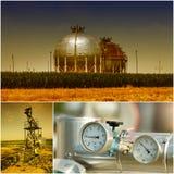 Pétrole et industrie du gaz Photographie stock