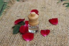 Pétrole et pétales de Rose Images libres de droits