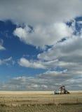 Pétrole puits, prairies Photos libres de droits