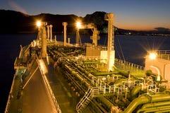 pétrolier de GNL d'industrie du gaz images libres de droits