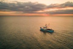 Pêche à l'aube images libres de droits