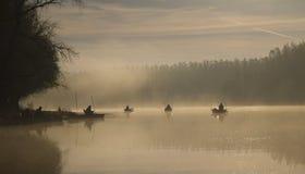 Pêche à la ligne de début de la matinée Photo stock