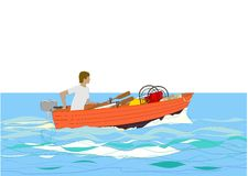 Pêche allante Images libres de droits
