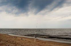 Pêche avant la tempête Images libres de droits