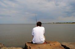 Pêche avant la tempête Photos stock