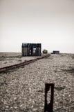 Pêche délabrée abandonnée de plage de hutte de cabine Image libre de droits