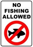 pêche d'aucun signe Images libres de droits