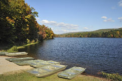 pêche d'automne Photos stock