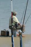 Pêche d'homme Image libre de droits