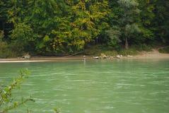 Pêche d'homme en rivière Image libre de droits