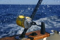Pêche d'obat de grand jeu en mer profonde Image libre de droits