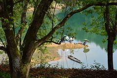 pêche dans Photo libre de droits