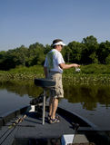 Pêche dans le fleuve Image libre de droits
