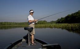 Pêche dans le fleuve Photo libre de droits