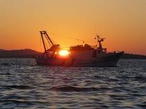 pêche de bateau Photo libre de droits