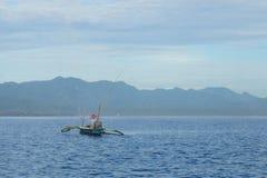 Pêche de début de la matinée sur la mer de Bali Photo stock