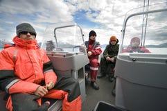 pêche de garçons Image libre de droits