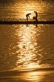 pêche de garçons Photographie stock libre de droits