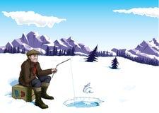 Pêche de glace Images stock
