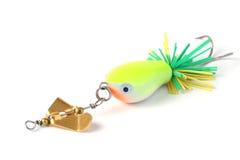 Pêche de l'attrait avec la roue de vent. Images stock