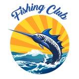Pêche de l'emblème coloré de club illustration de vecteur