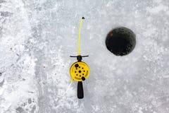 Pêche de l'hiver Photo libre de droits
