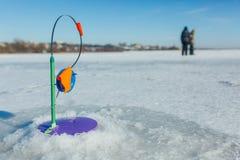 Pêche de l'hiver Pêche de l'hiver Images libres de droits