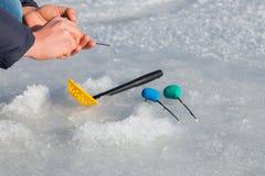 Pêche de l'hiver Images stock
