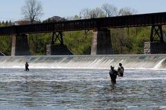 Pêche de la rivière grande Image libre de droits