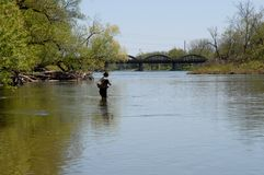 Pêche de la rivière grande Images stock