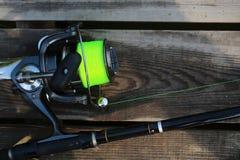 Pêche de la tige et de la bobine de rotation Photo libre de droits