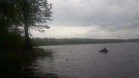 Pêche de lac NH Photos libres de droits