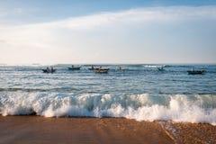 Pêche de matin Image libre de droits