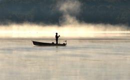 Pêche de matin Photos libres de droits