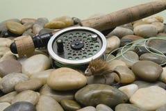 Pêche de mouche Photographie stock libre de droits