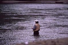 Pêche de mouche Photographie stock