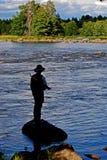 Pêche de mouche. photographie stock