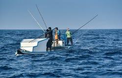 Pêche de pêcheurs à la ligne Photos stock