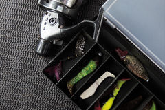 Pêche de poissons de silicone Photo libre de droits
