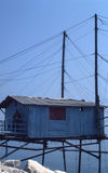 Pêche de Trebuchet en mer Images stock