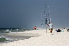 Pêche de vague déferlante Image stock