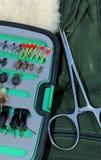 Pêche des choix de mouche images stock