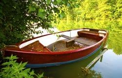 Pêche du bateau d'écorce Photographie stock libre de droits