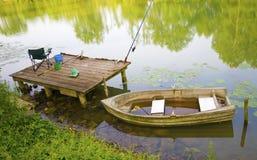 Pêche du bateau d'écorce Image libre de droits
