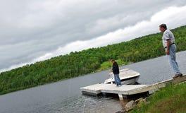 Pêche du dock images libres de droits
