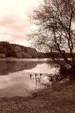 Pêche en automne Photos libres de droits