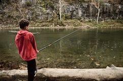 Pêche en eau douce Image libre de droits